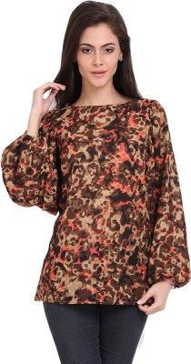 Ridress Casual Full Sleeve Animal Print Women's Multicolor Top