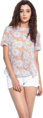 Pera Doce Casual Short Sleeve Printed Women,s Pink Top