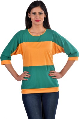 Hugo Chavez Formal, Party, Casual, Festive 3/4 Sleeve Solid Women's Yellow Top