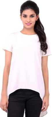 Zachi Casual Short Sleeve Solid Women's White Top