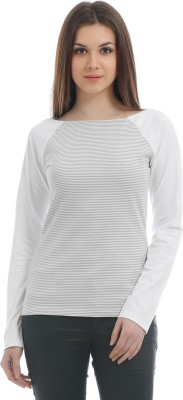 Texco Casual Full Sleeve Self Design Women's White Top