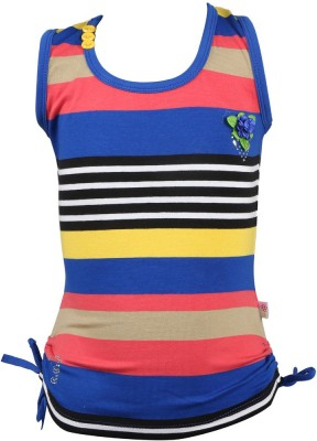 Pami Party Sleeveless Striped Baby Girl's Multicolor Top