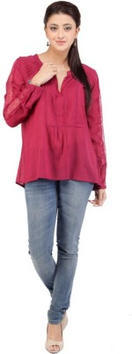 I Am For You Casual Full Sleeve Solid Women's Pink Top at flipkart