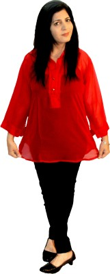 Shonaa Casual Full Sleeve Solid Women's Red Top