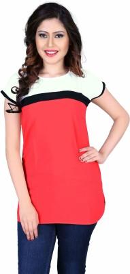 Aasvaa Casual Sleeveless Solid Women's Pink Top