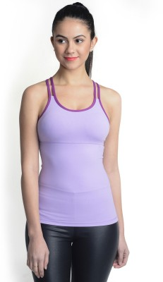 La Zoya Sports Sleeveless Solid Women's Purple Top