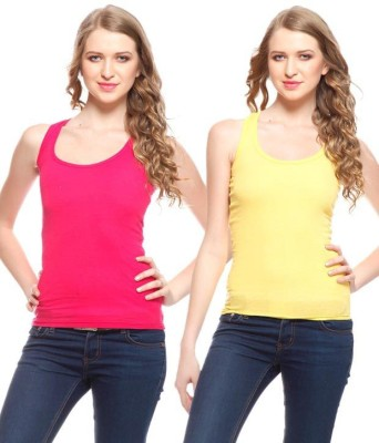 Scarlett Casual Sleeveless Solid Women's Multicolor Top