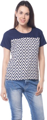 Meira Party Short Sleeve Printed Women's Multicolor Top