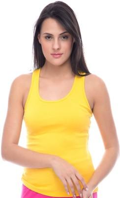 Virsa Sports Sleeveless Solid Women's Yellow Top