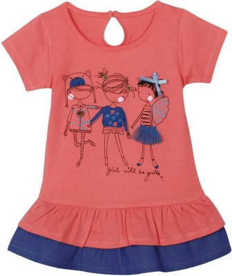 Mom & Me Casual Short Sleeve Printed Girl's Multicolor Top