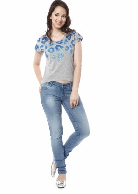 Miss Pink Casual Short Sleeve Graphic Print Girl's Multicolor Top