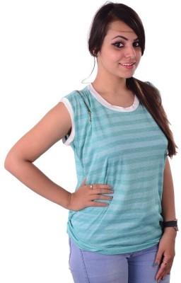 Shivi's Designer Studio Casual Sleeveless Solid Women's Multicolor Top