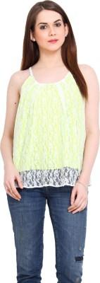 Ridress Casual Sleeveless Solid Women's Light Green Top