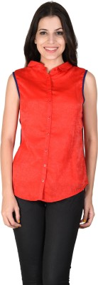 Latin Quarters Formal Sleeveless Solid Women,s Red Top