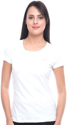 Virsa Casual Short Sleeve Solid Women,s White Top
