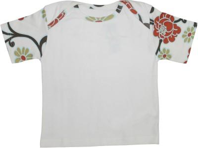 Mankoose Formal Short Sleeve Printed Girl's White Top