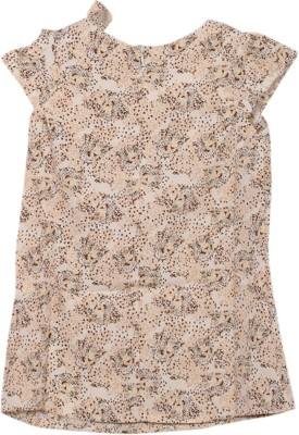 Kemrich Casual Short Sleeve Graphic Print Baby Girl's Multicolor Top