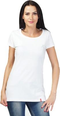 NEENUS Casual Short Sleeve Printed Girl's White Top