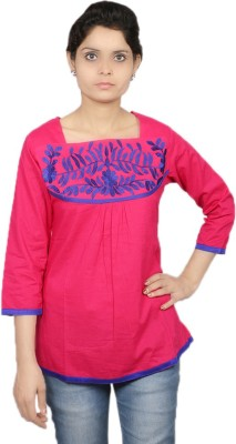 Kemrich Formal Full Sleeve Solid Women's Red Top