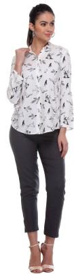 W Casual Full Sleeve Printed Women's Grey Top