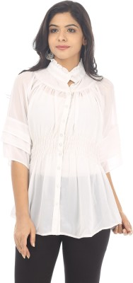 Live With Style Casual Short Sleeve Solid Women's White Top