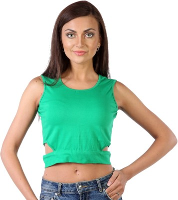 James Scot Formal Sleeveless Solid Women's Green Top