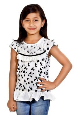 Maggie Girl's A-line Multicolor Dress