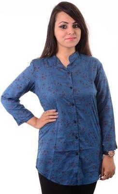Shivi's Designer Studio Casual Full Sleeve Printed Women's Multicolor Top