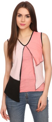 Legona Casual Sleeveless Solid Women's Multicolor Top