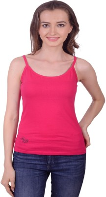 Lee Marc Casual Noodle strap Solid Women's Red Top