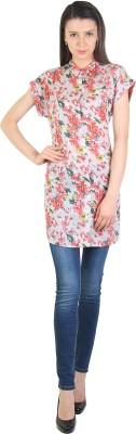 E Syrus Casual Cap sleeve Printed Women,s Multicolor Top