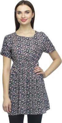 Bantry Casual Short Sleeve Self Design Women's Multicolor Top