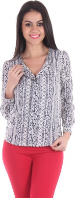 SS Casual Full Sleeve Printed Women's Blue Top