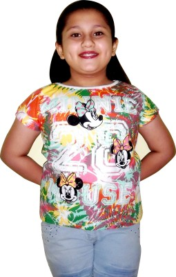 MC Casual Short Sleeve Printed Girl's Multicolor Top