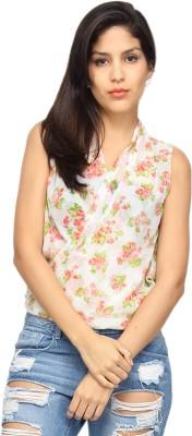 Americanlaundry Casual Sleeveless Printed Women's White Top