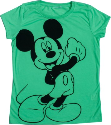 Indirang Casual Short Sleeve Solid Girl's Green Top