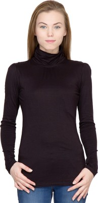 Latin Quarters Casual Full Sleeve Solid Women,s Black Top