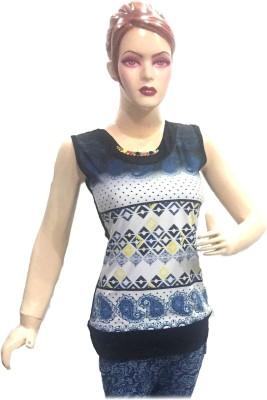 Shining Girl Casual Short Sleeve Printed Women's Black Top