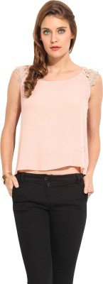 Rena Love Casual Sleeveless Solid Women's Pink Top