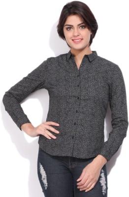 Allen Solly Womens Casual Black Shirt