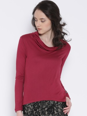 Noble Faith Casual Full Sleeve Solid Women's Pink Top