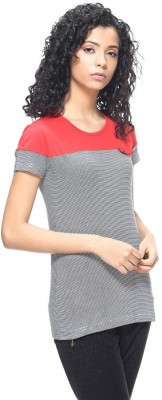 HANGNHOLD Casual Short Sleeve Solid Women's Grey Top