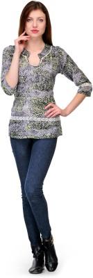 Shwetna Casual 3/4 Sleeve Printed Women,s Black Top