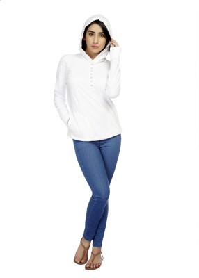 True Fashion Casual Full Sleeve Solid Women's White Top