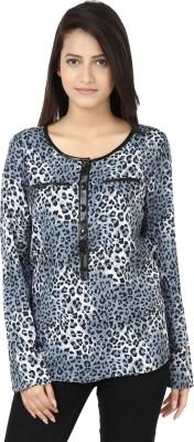 Adhaans Casual Full Sleeve Printed Women's Black, Grey Top