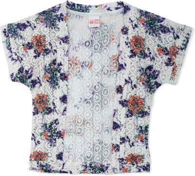 FS Mini Klub Casual Short Sleeve Printed Girl's White Top