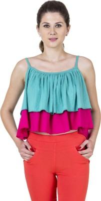 Jprana Casual Sleeveless Solid Women's Blue, Pink Top