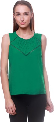 La Divyyu Party Sleeveless Solid Women's Red Top