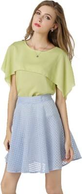 archon e-commerce Party Short Sleeve Embellished Women's Light Green Top