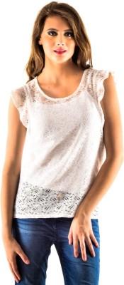 Oshea Casual Sleeveless Woven Women,s White Top